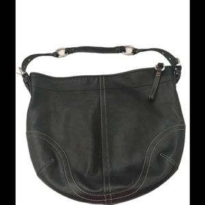 Coach Leather Hobo Black Handbag 3651.